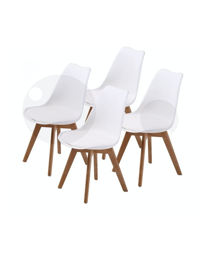 Replica Eames PU Padded Dining Chair x4 image 1
