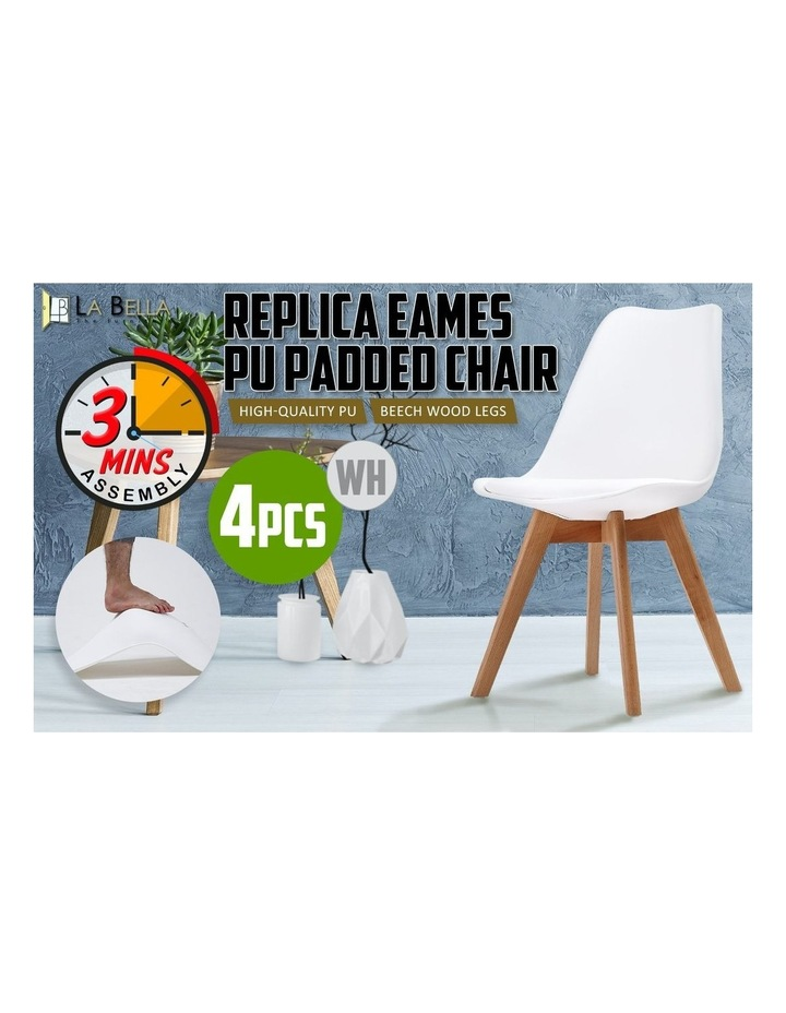 Replica Eames PU Padded Dining Chair x4 image 3