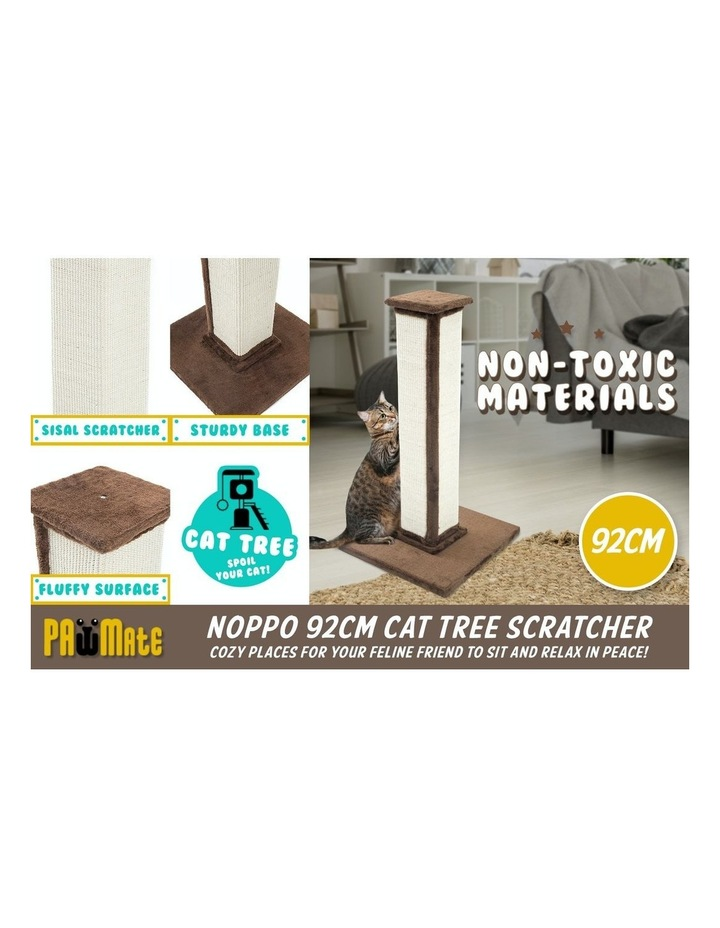 92Cm Cat Tree Scratcher Noppo - Brown image 3