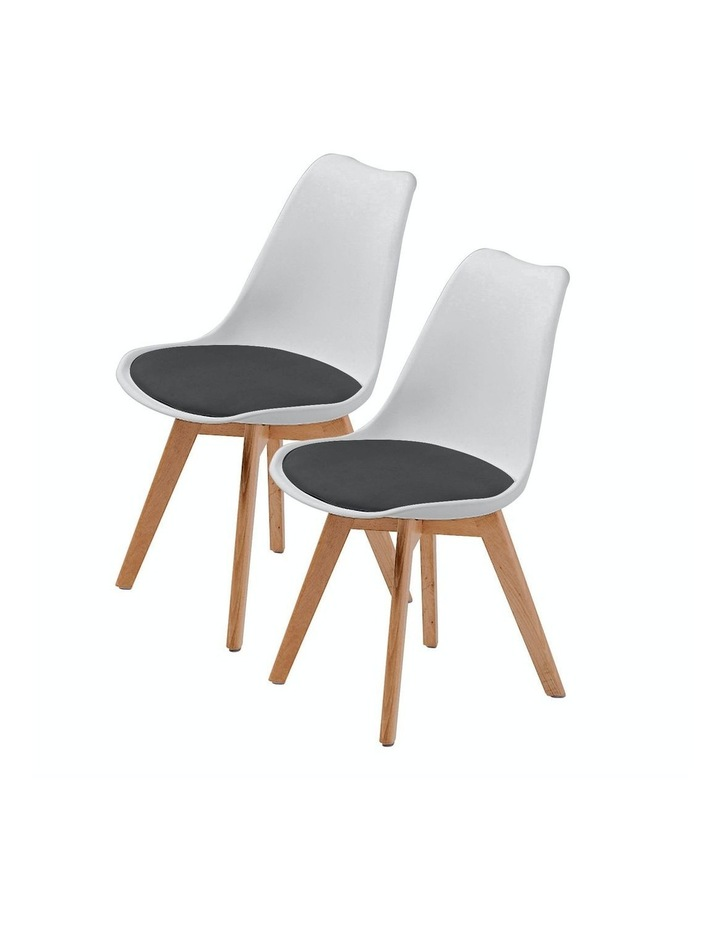 Padded Seat Dining Chair x2 image 1