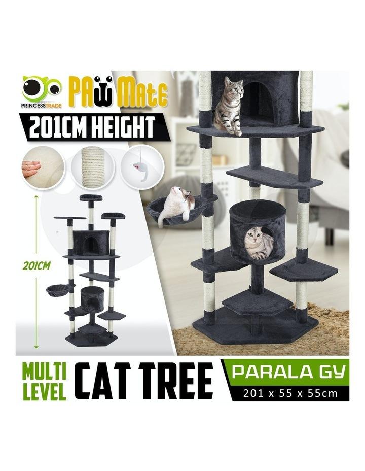 201cm Cat Tree Scratcher Parala - Grey image 2