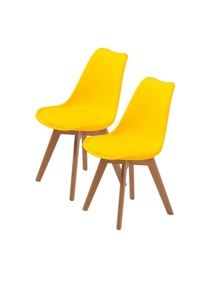 2X Padded Seat Dining Chair - Yellow image 1