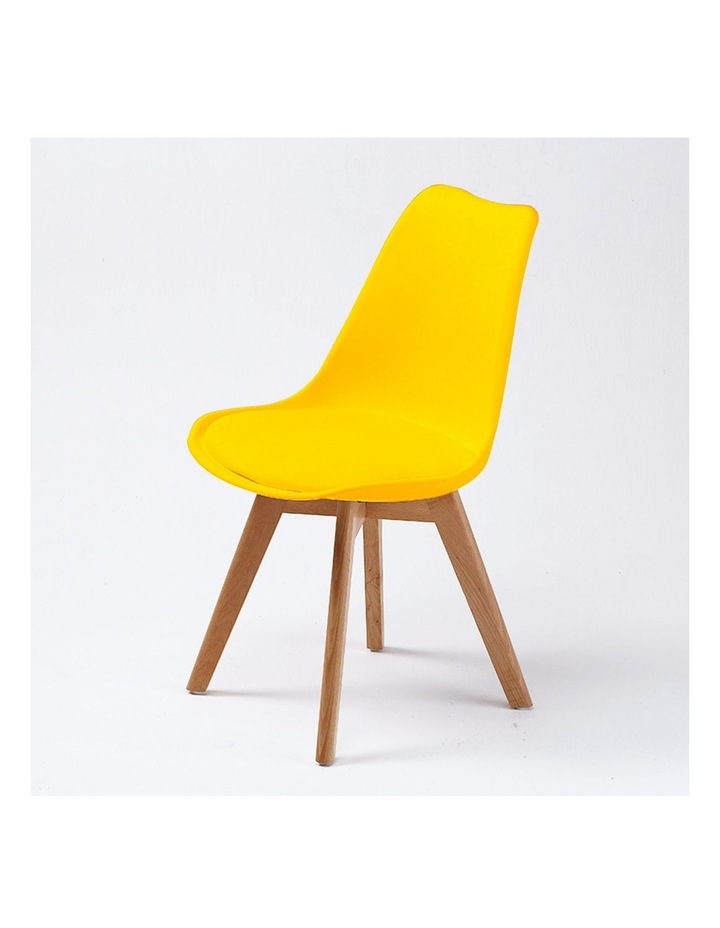 2X Padded Seat Dining Chair - Yellow image 2