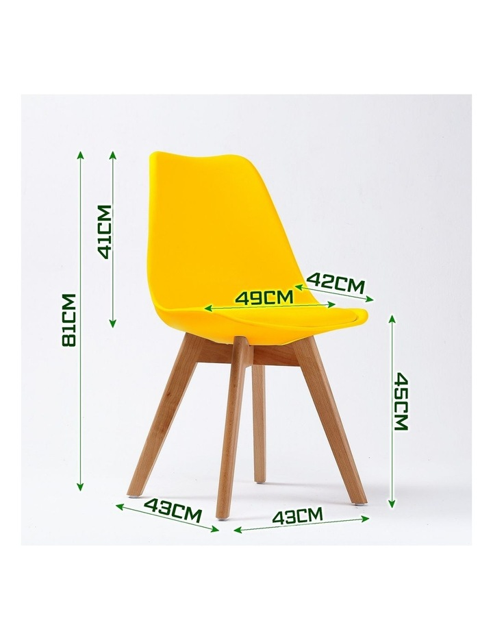 2X Padded Seat Dining Chair - Yellow image 3