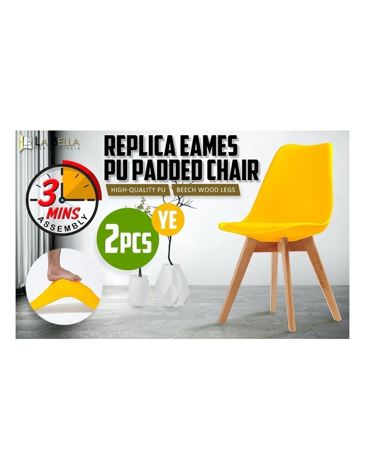 2X Padded Seat Dining Chair - Yellow image 5