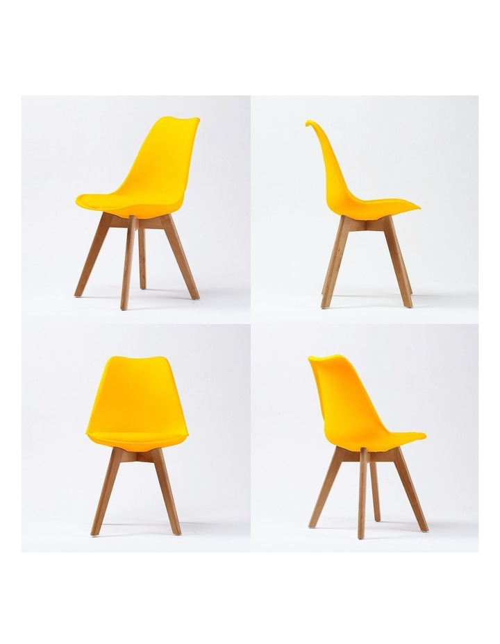 2X Padded Seat Dining Chair - Yellow image 6