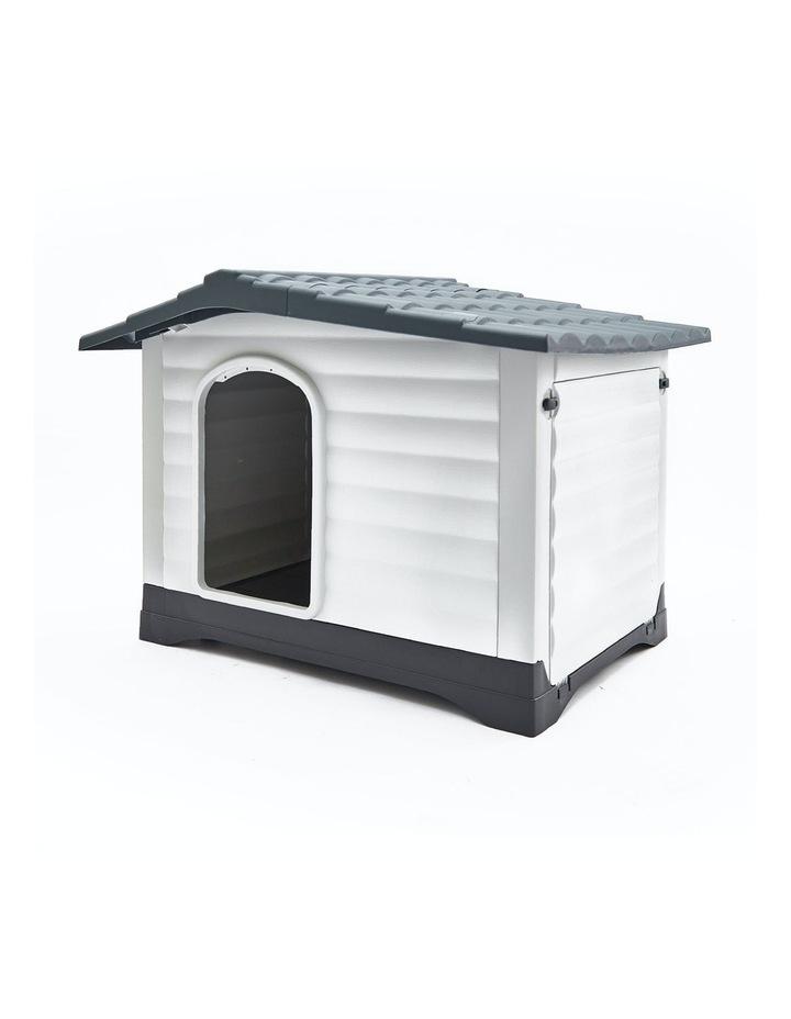 XXL 111 x 84 x 80.5cm Plastic Dog Kennel Molly Blue image 1