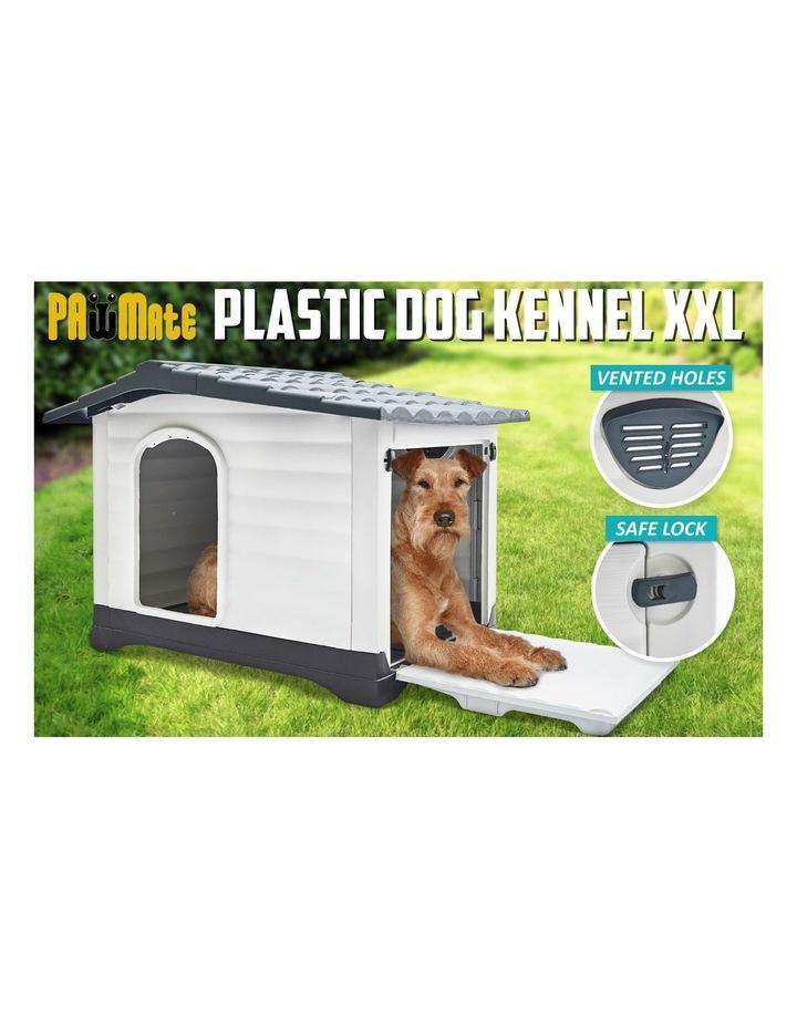XXL 111 x 84 x 80.5cm Plastic Dog Kennel Molly Blue image 3