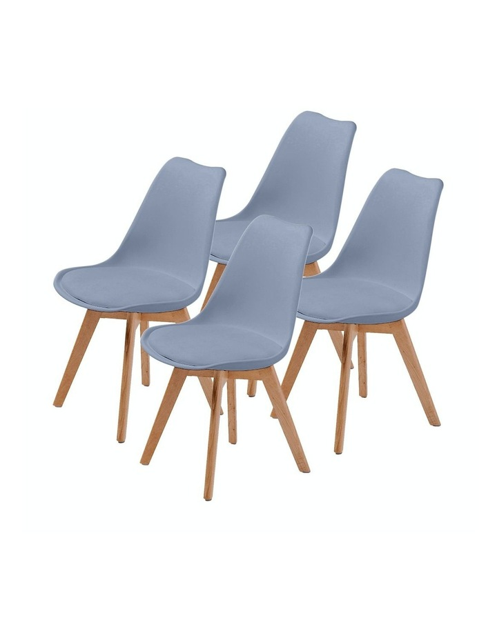 4X Padded Seat Dining Chair - GREY image 1
