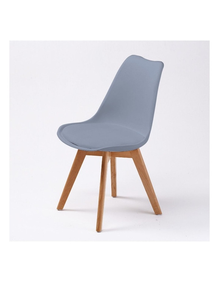 4X Padded Seat Dining Chair - GREY image 2