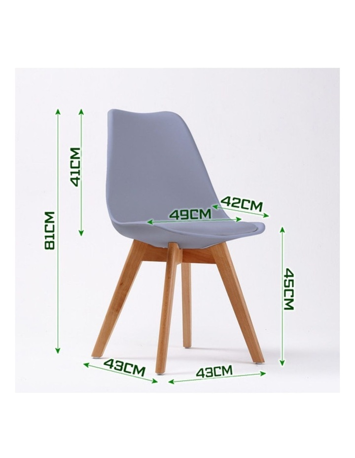 4X Padded Seat Dining Chair - GREY image 3