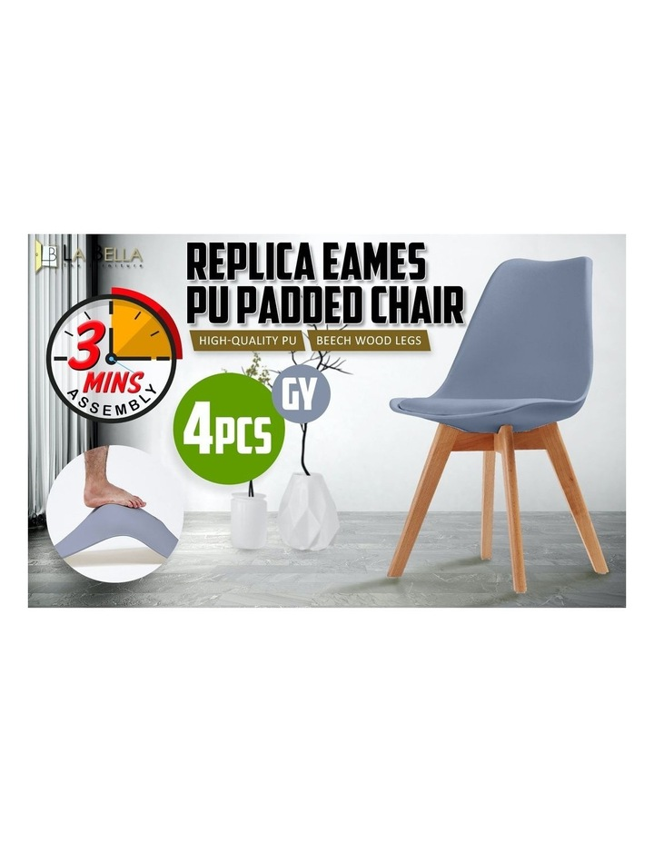 4X Padded Seat Dining Chair - GREY image 5