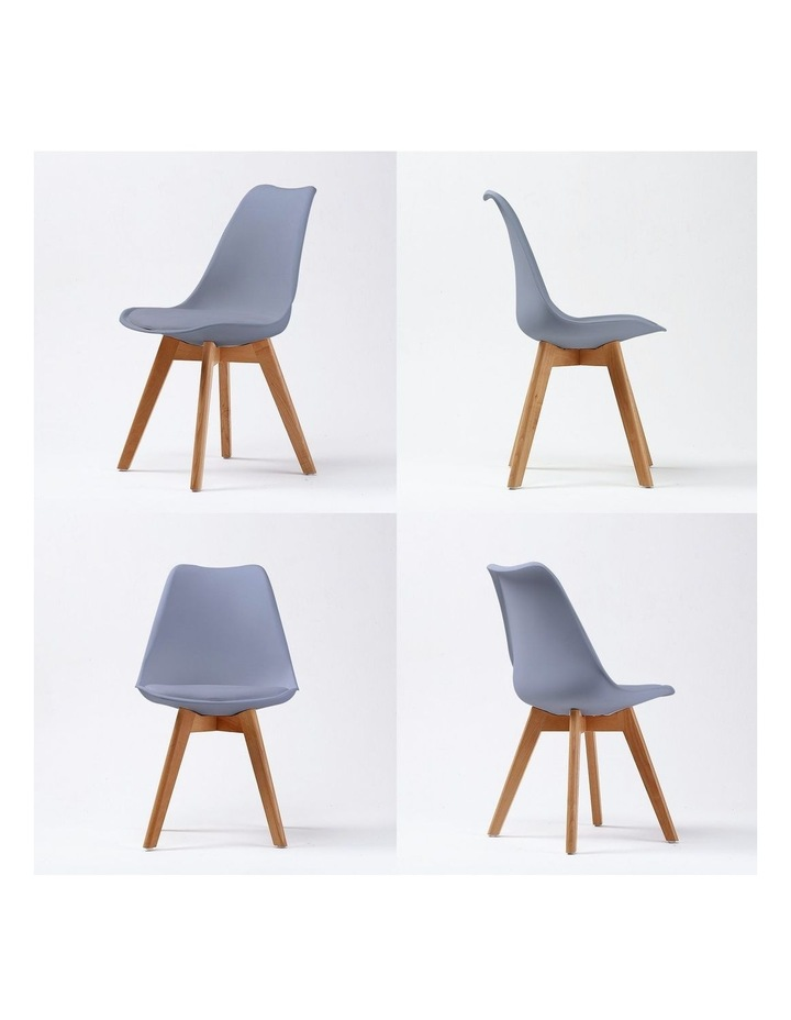4X Padded Seat Dining Chair - GREY image 6