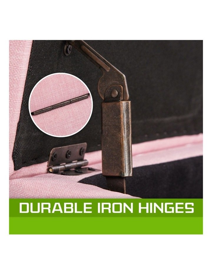 102cm Storage Ottoman Fabric - Pink image 2