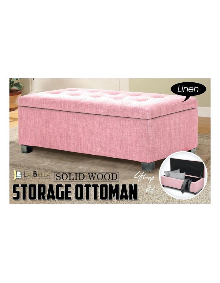 102cm Storage Ottoman Fabric - Pink image 6