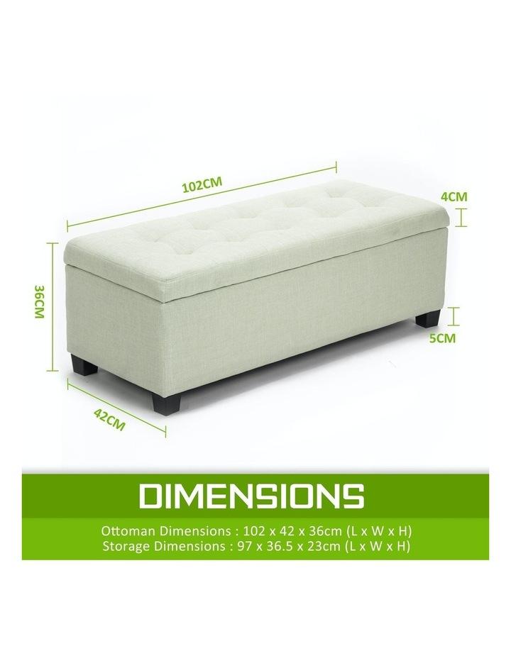 102cm Storage Ottoman Fabric - Light Green image 4