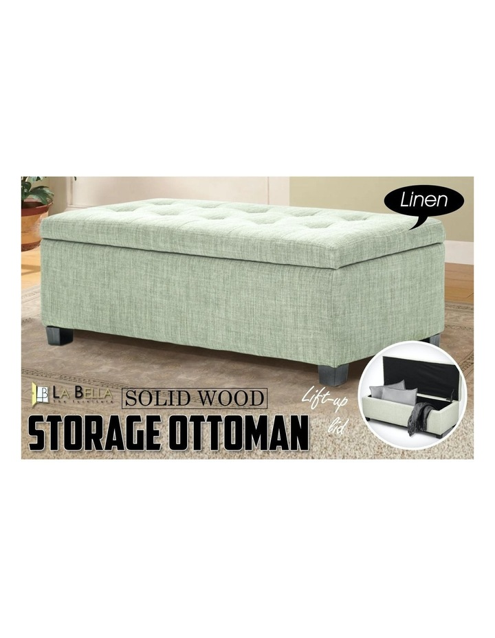 102cm Storage Ottoman Fabric - Light Green image 6