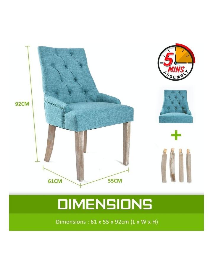 2X French Provincial Oak Leg Chair Amour- Blue image 5