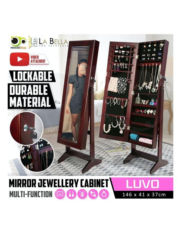 146cm Mirror Jewellery Cabinet LUVO - WALNUT image 2