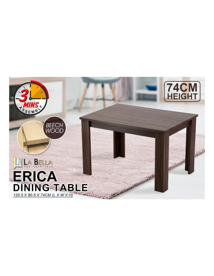 Wooden Dining Table Erica - Dark Brown image 2