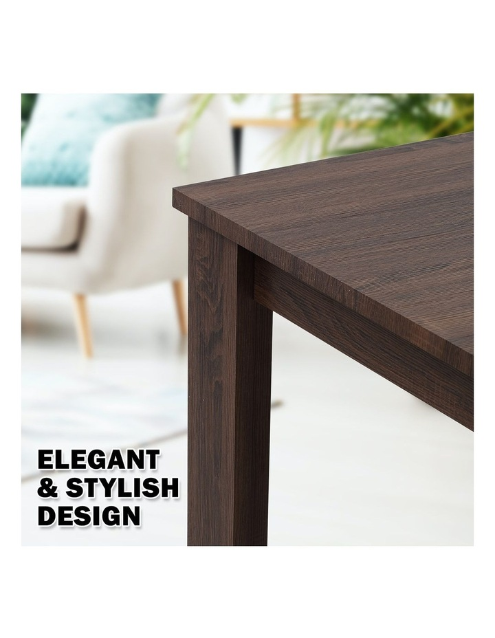 Wooden Dining Table Erica - Dark Brown image 4