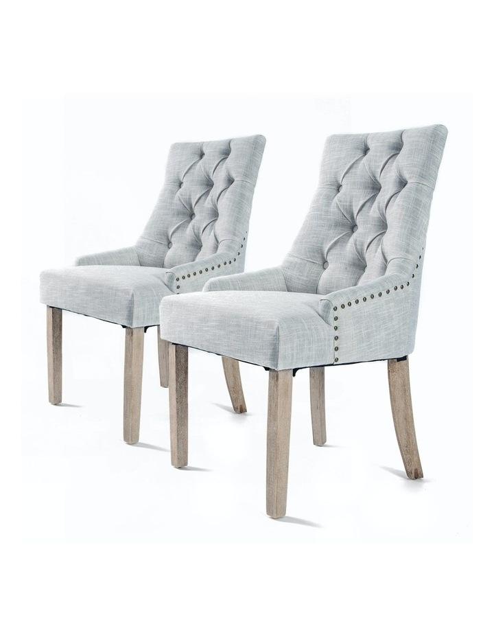 French Provincial Oak Leg Chair x2 image 1