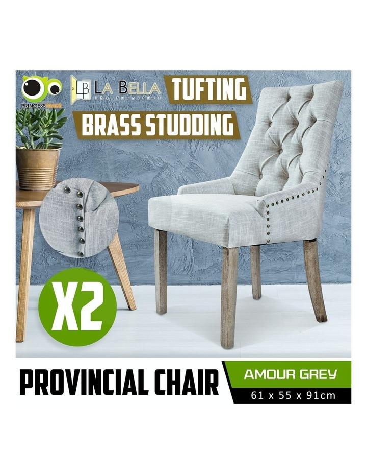 French Provincial Oak Leg Chair x2 image 2
