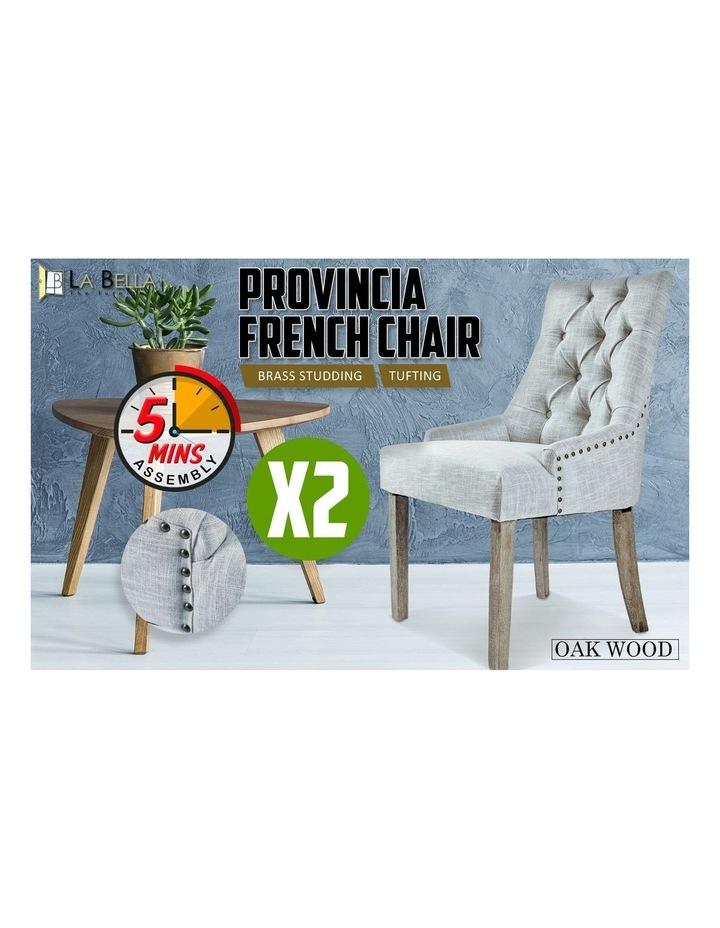 French Provincial Oak Leg Chair x2 image 3