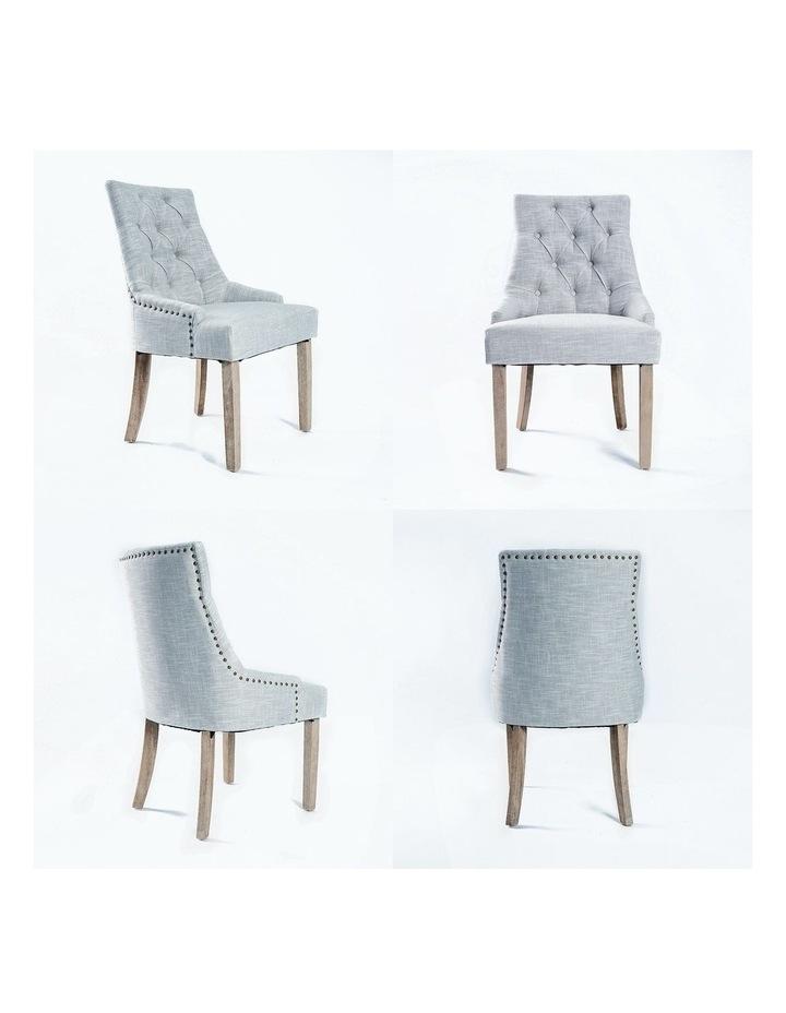 French Provincial Oak Leg Chair x2 image 5