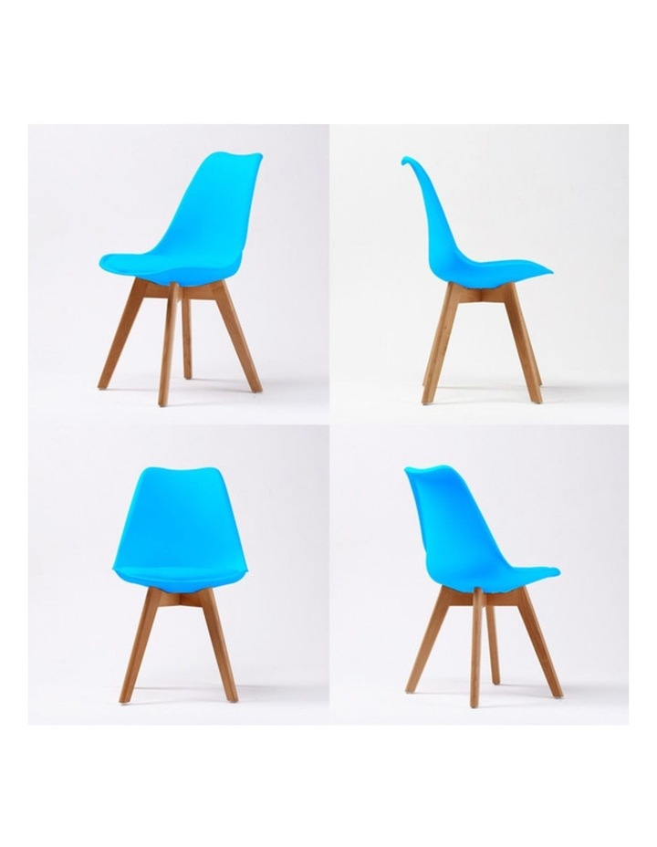 2X Padded Seat Dining Chair - BLUE image 4