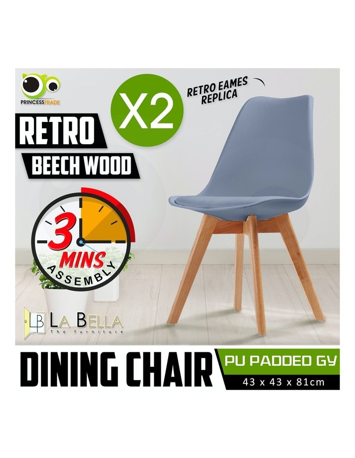 Padded Seat Dining Chair x2 image 2
