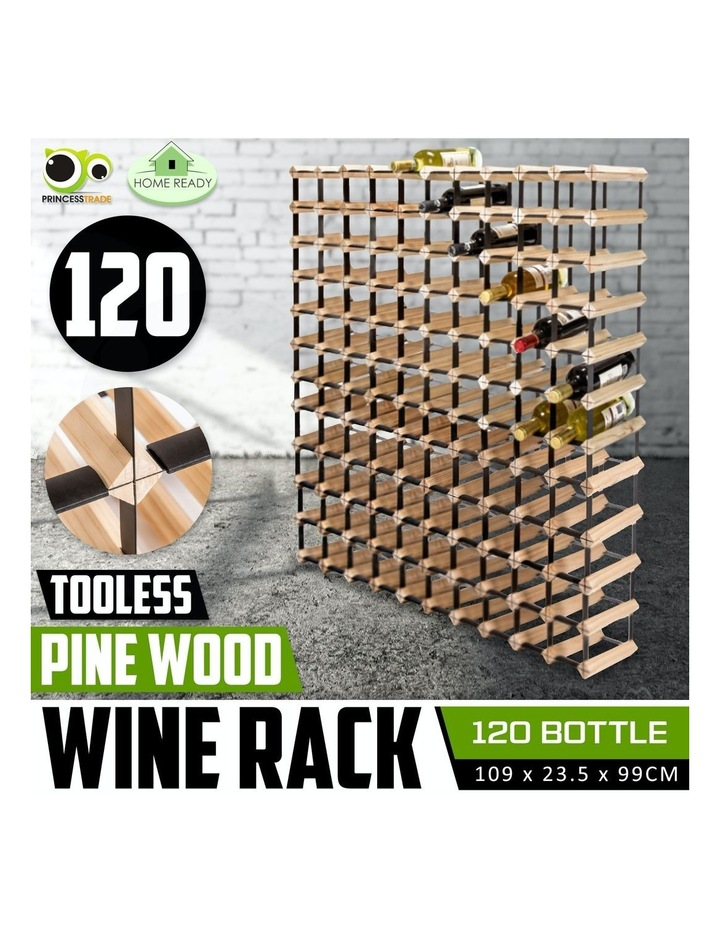 120 Bottle Timber Wine Rack image 2
