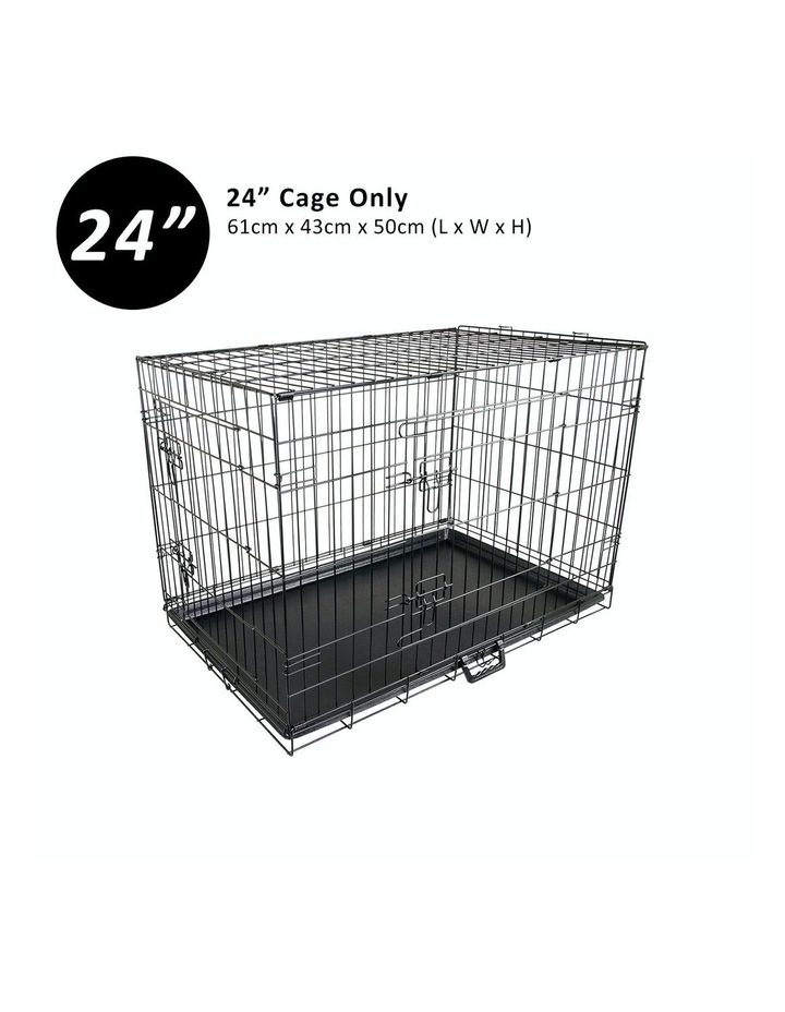 "24"" Foldable Wire Dog Cage with Tray image 1"
