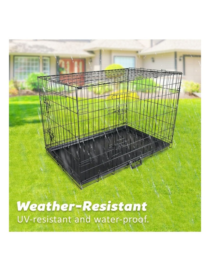 "24"" Foldable Wire Dog Cage with Tray image 3"