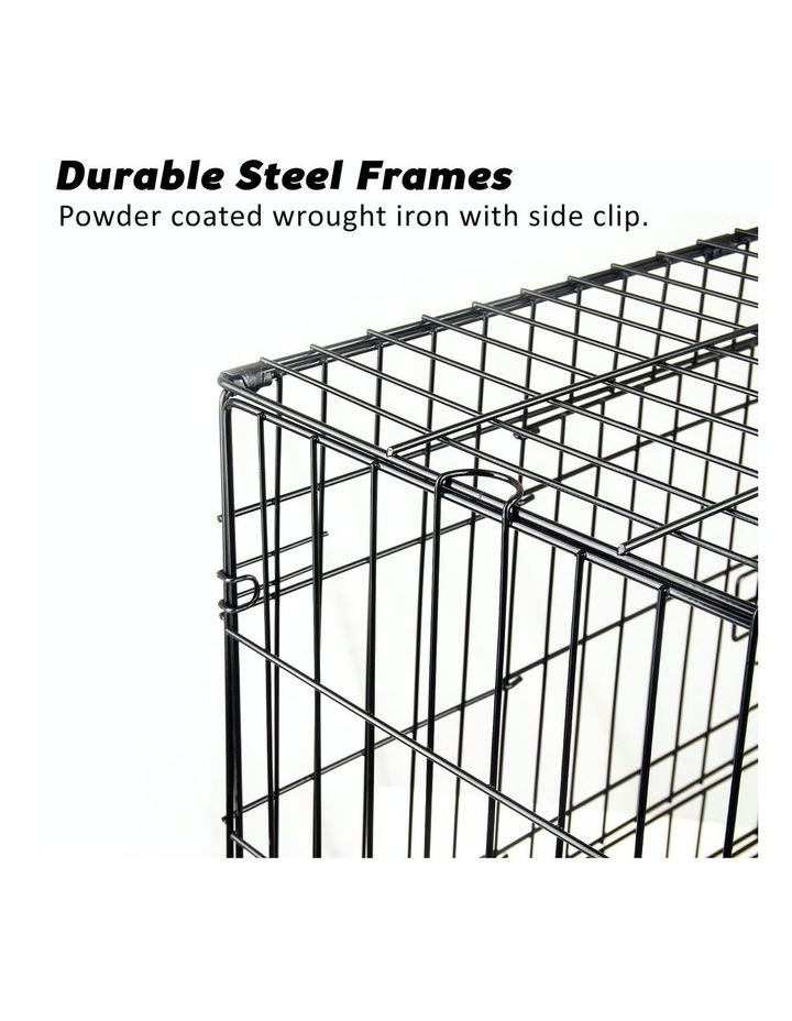 "24"" Foldable Wire Dog Cage with Tray image 4"