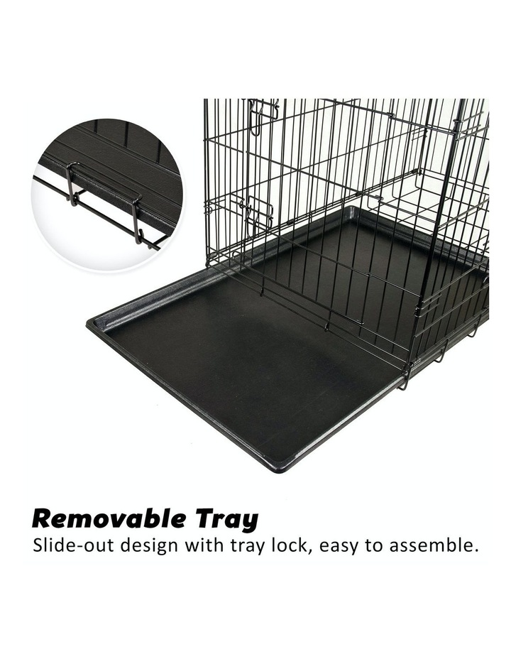 "24"" Foldable Wire Dog Cage with Tray image 5"