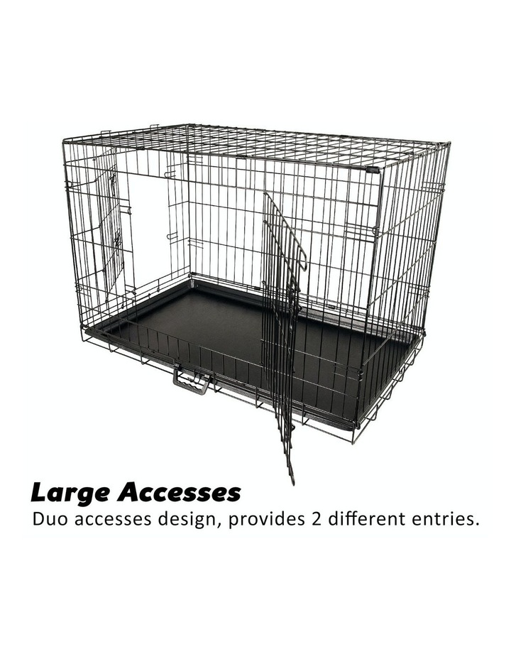 "24"" Foldable Wire Dog Cage with Tray image 6"