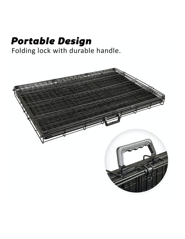 "24"" Foldable Wire Dog Cage with Tray image 7"