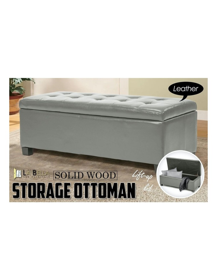 102cm Storage Ottoman Leather image 3