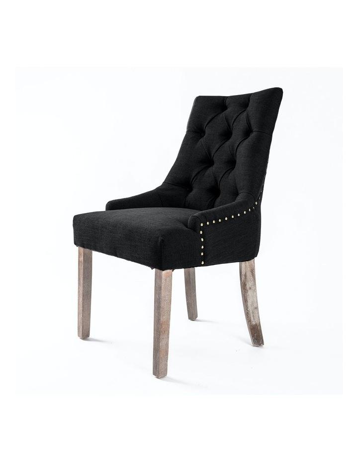 French Provincial Oak Leg Chair Amour - Dark Black image 1