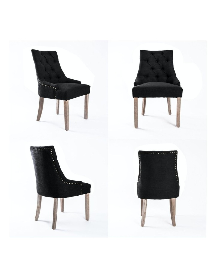 French Provincial Oak Leg Chair Amour - Dark Black image 5