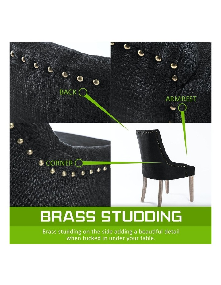 French Provincial Oak Leg Chair Amour - Dark Black image 6