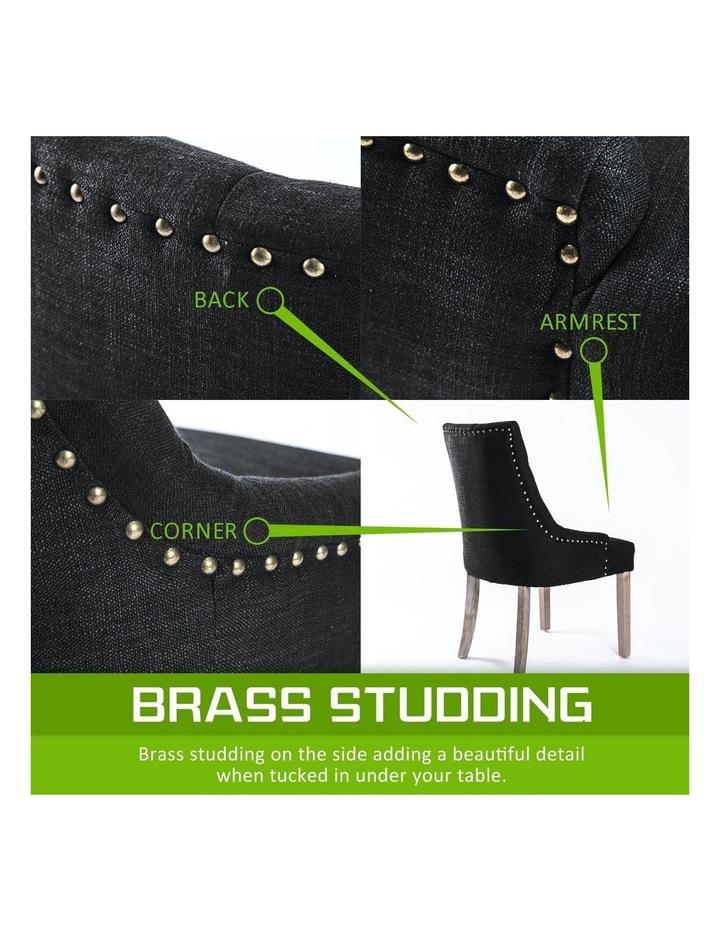 2X French Provincial Oak Leg Chair AMOUR - DARK BLACK image 6