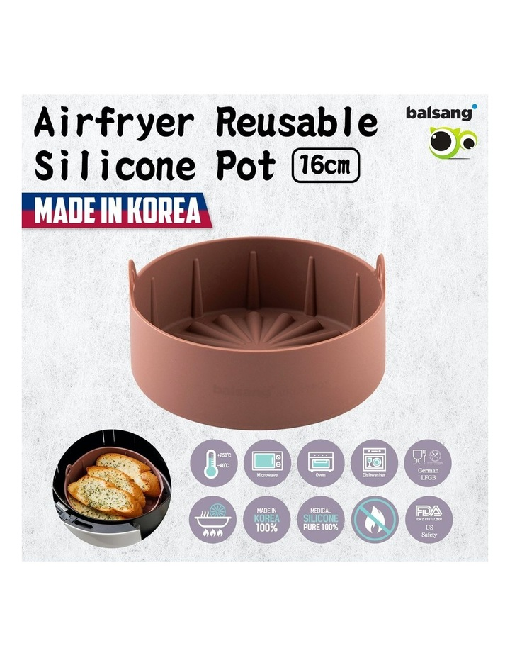 Airfryer Reusable Silicone Pot Small - BROWN image 2
