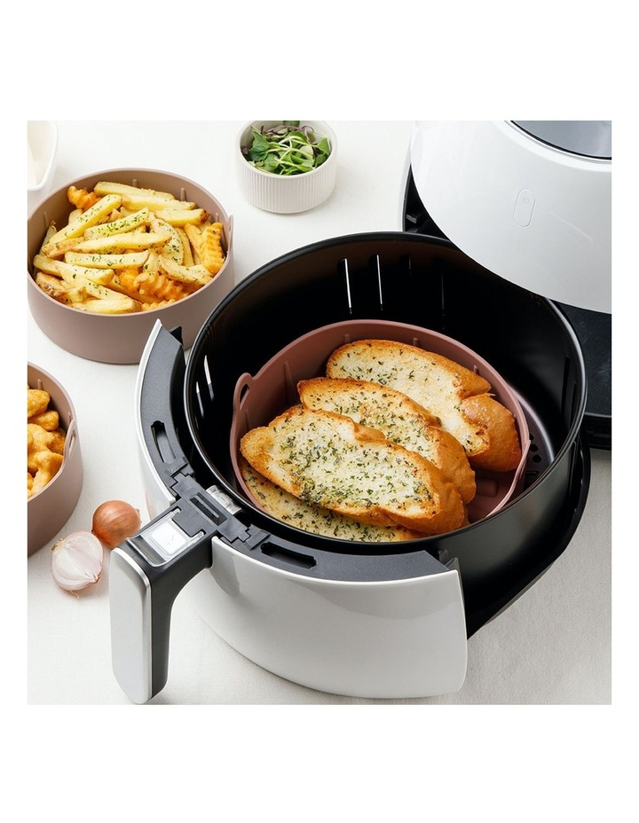 Airfryer Reusable Silicone Pot Small - BROWN image 3