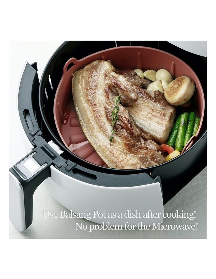Airfryer Reusable Silicone Pot Small - BROWN image 4