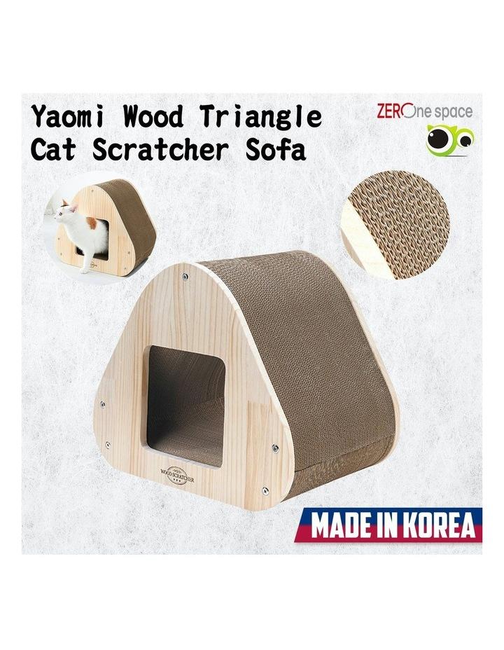 Yaomi Wood Triangle Cat Scratcher Sofa image 2
