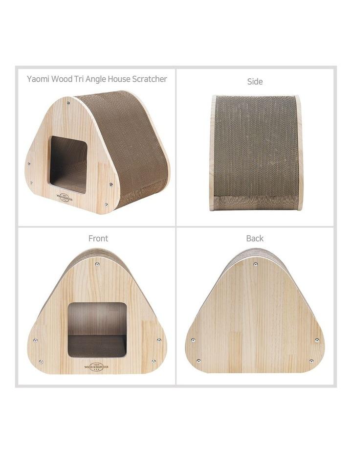 Yaomi Wood Triangle Cat Scratcher Sofa image 4
