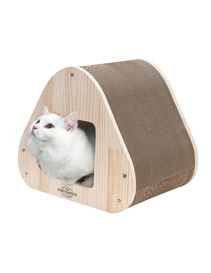 Yaomi Wood Triangle Cat Scratcher Sofa image 5