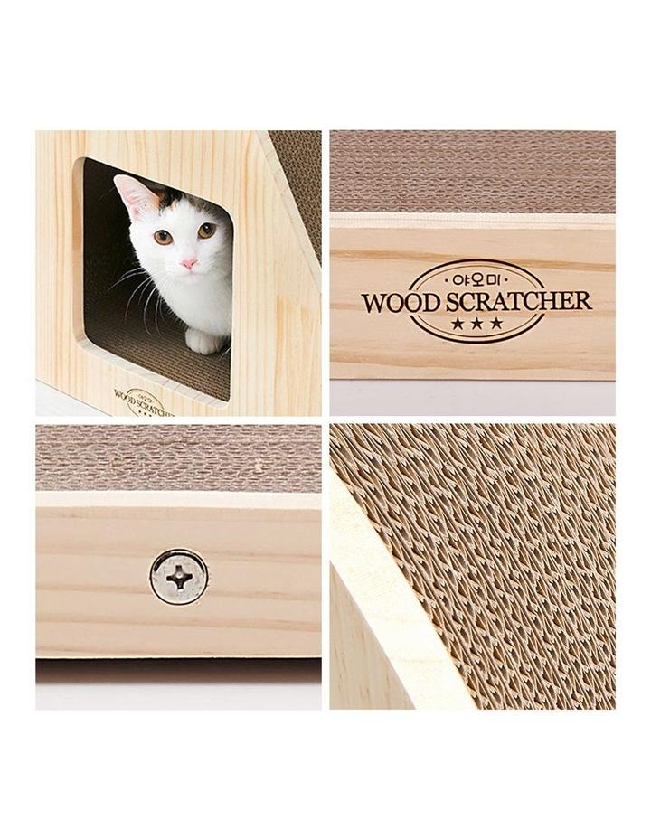 Yaomi Wood Triangle Cat Scratcher Sofa image 6